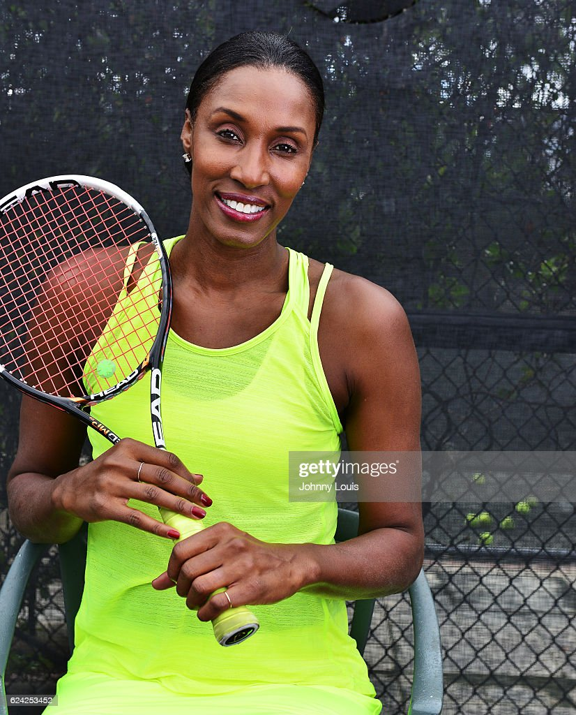 Lisa Leslie participates in 2016 Chris Evert/Raymond James Pro-Celebrity Tennis Classic - Media Access at Boca Raton Resort on November 18, 2016 in Boca Raton, Florida.