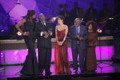 Lisa Leslie TD Jakes Halle Berry Clarence Avant and Chaka Khan attend BET Honors 2013 at Warner Theatre on January 12 2013 in Washington DC