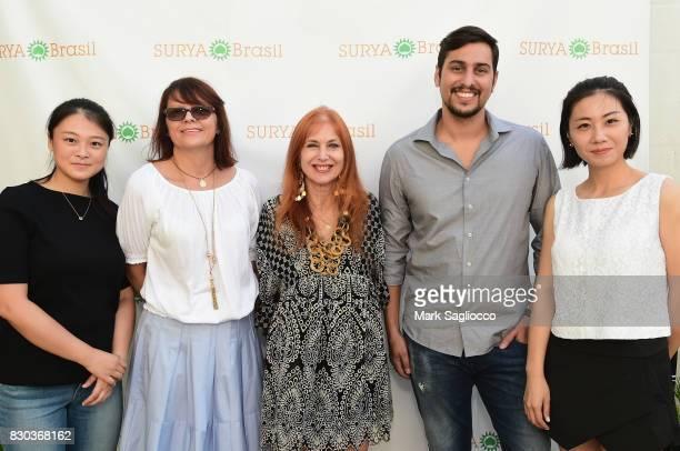 Lisa Li Margaret Kwiatkowski Clelia Angelon Alessandro Silva and Liwen Ma attend as Surya Brasil celebrates 20th anniversary in the United States on...
