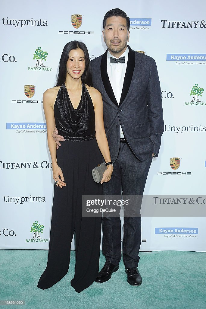 Lisa Ling and husband Dr Paul Song arrive at the 2014 Baby2Baby Gala presented by Tiffany Co honoring Kate Hudson at The Book Bindery on November 8...