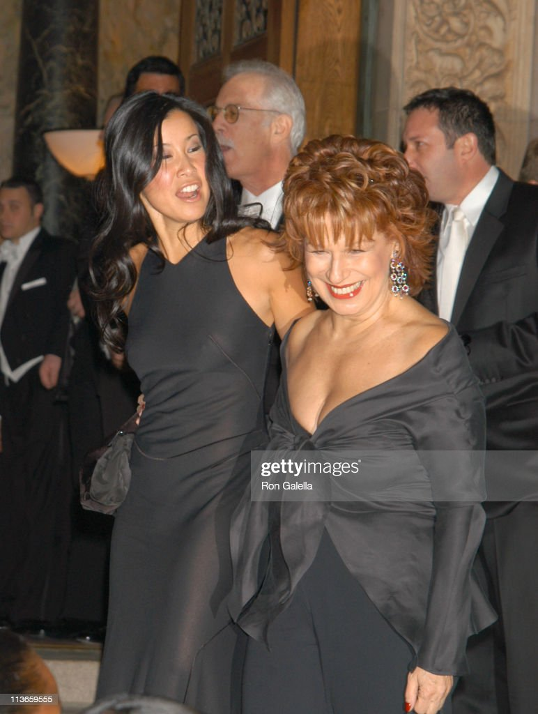 Lisa Ling and Joy Behar during Star Jones and Al Reynolds Wedding Arrivals at Saint Bartholomew's Church in New York City New York United States