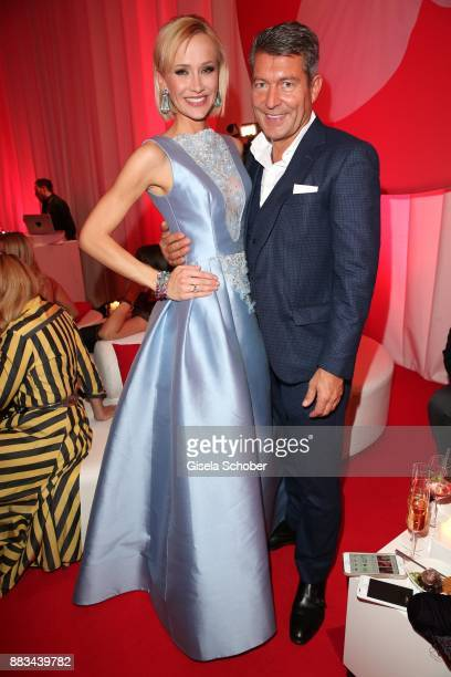 Lisa Loch and Jeweler Thomas Jirgens Juwelenschmiede during the Mon Cheri Barbara Tag at Postpalast on November 30 2017 in Munich Germany