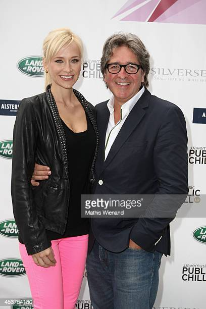 Lisa Loch and Michael van Droffelaar attend the Land Rover Public Chill 2014 at km689 on August 17 2014 in Cologne Germany