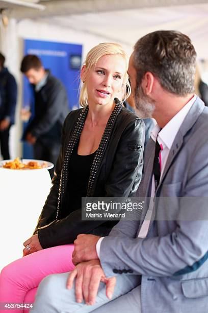 Lisa Loch and Oliver Fuhse attend the Land Rover Public Chill 2014 at km689 on August 17 2014 in Cologne Germany