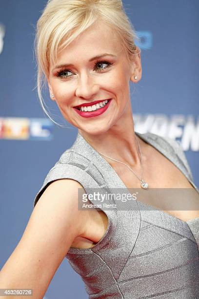 Lisa Loch attends the German premiere of the film 'The Expendables 3' at Residenz Kino on August 6 2014 in Cologne Germany