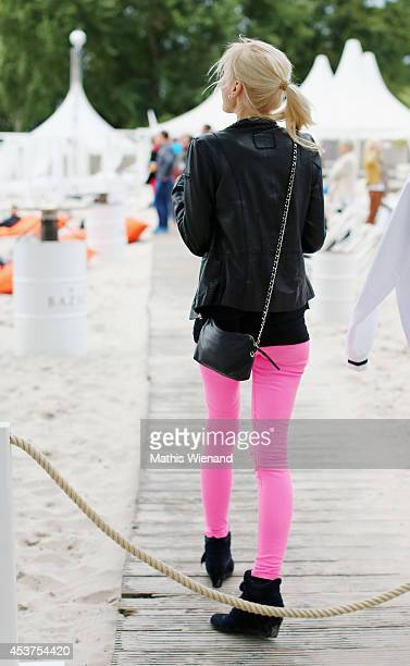Lisa Loch attends the Land Rover Public Chill 2014 at km689 on August 17 2014 in Cologne Germany
