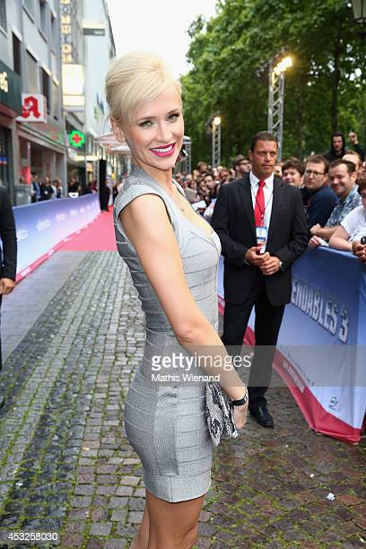 Lisa Loch attends the premiere of the film 'The Expendables 3' at Residenz Kino on August 6 2014 in Cologne Germany