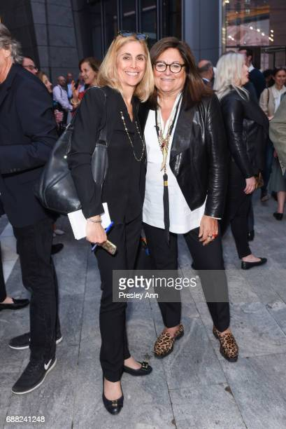 Lisa Lockwood and Fern Mallis attend The Shed First Reveal VIP Cocktail Party at The Shed on May 24 2017 in New York City