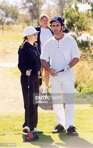 Lisa Loeb and Dweezil Zappa during 1998 Fairway to Heaven Golf Tournament in Las Vegas Nevada United States