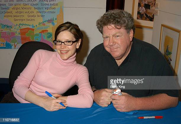 Lisa Loeb and George Wendt during CD Launch Party For 'A World Of Happiness' at Storyopolis in Los Angeles California United States