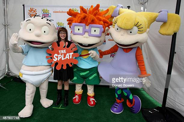 Lisa Loeb and Rugrats characters attend the Nickelodeon sponsored 90sFEST Pop Culture and Music Festival on September 12 2015 in Brooklyn New York
