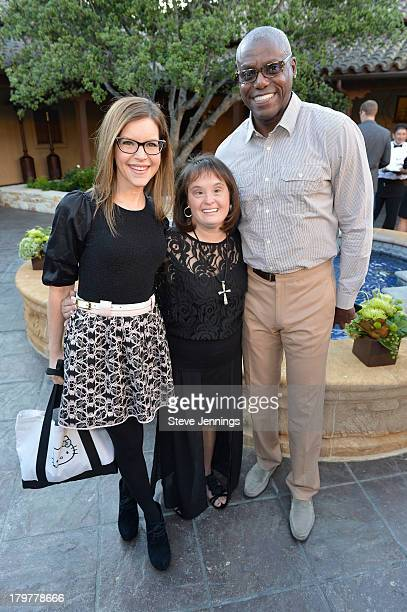 Lisa Loeb Lisa Smith and Carl Lewis attend Best Buddies Challenge Hearst Castle Kickoff Reception Hosted by Maria Shriver at Tehama Golf Club on...