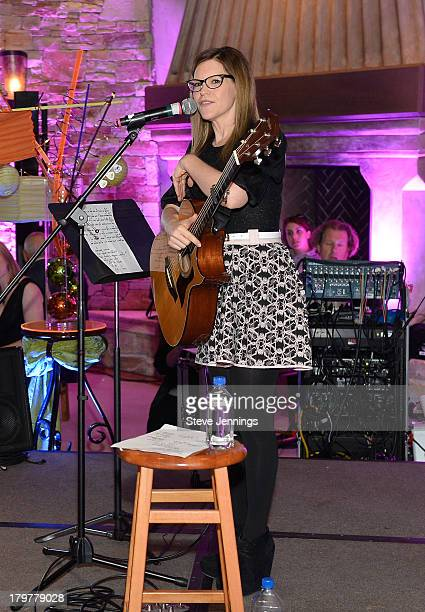 Lisa Loeb performs during Best Buddies Challenge Hearst Castle Kickoff Reception Hosted by Maria Shriver at Tehama Golf Club on September 6 2013 in...