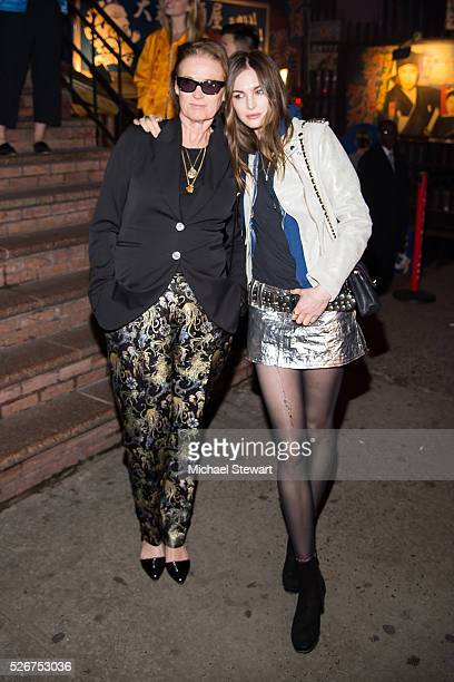 Lisa Love and model Laura Love attend the Voguecom Met Gala cocktail party at Search Destroy on April 30 2016 in New York City
