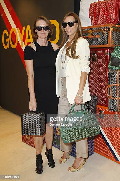 Lisa Love of Vogue and Jacqui Getty attend Barneys New York And Vogue Lunch To Celebrate Goyard Hosted By Amanda Brooks And Lawren Howell at Barneys...