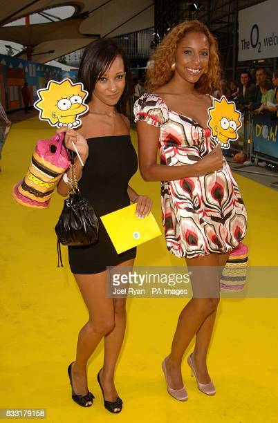 Lisa Maffia and SuElise Nash arrive for the UK Premiere of The Simpsons Movie at the Vue Cinema The O2 Peninsula Square London