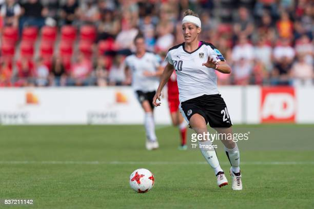 Lisa Makas of Austria controls the ball during the Group C match between Austria and Switzerland during the UEFA Women's Euro 2017 at Stadion De...