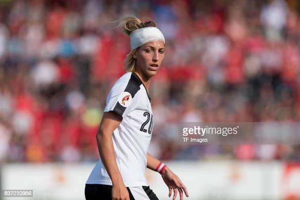 Lisa Makas of Austria looks on during the Group C match between Austria and Switzerland during the UEFA Women's Euro 2017 at Stadion De Adelaarshorst...