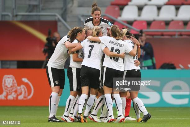 Lisa Makas of Austria women during the UEFA WEURO 2017 Group C group stage match between France and Austria at the Galgenwaard Stadium on July 22...