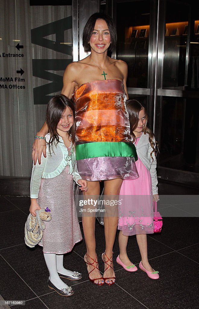 <a gi-track='captionPersonalityLinkClicked' href=/galleries/search?phrase=Lisa+Maria+Falcone&family=editorial&specificpeople=5614527 ng-click='$event.stopPropagation()'>Lisa Maria Falcone</a> and daughters attends the Cinema Society with FIJI Water & Levi's screening of 'Mud' at The Museum of Modern Art on April 21, 2013 in New York City.
