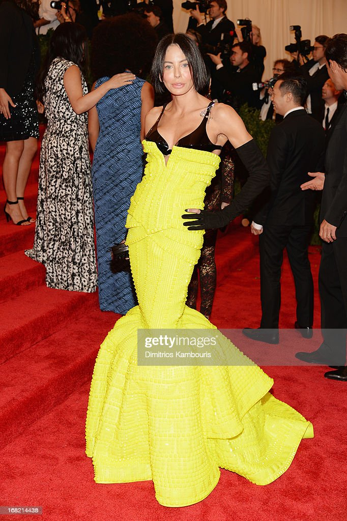 Lisa Maria Falcone attends the Costume Institute Gala for the 'PUNK: Chaos to Couture' exhibition at the Metropolitan Museum of Art on May 6, 2013 in New York City.