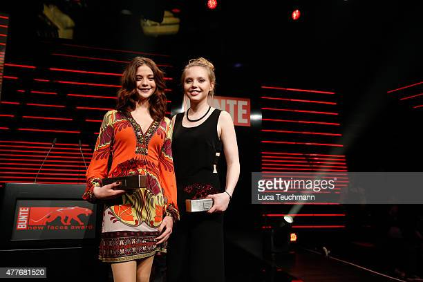 Lisa Maria Koroll and Lina Larissa Strahl attend New Faces Award Film 2015 at EWerk on June 18 2015 in Berlin Germany