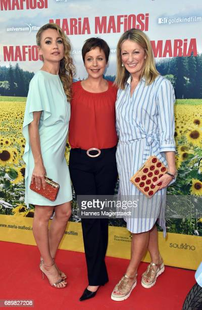 Lisa Maria Potthoff Jule Ronstedt and Monika Gruber during the 'Maria Mafiosi' Premiere at Sendlinger Tor Filmpalast on May 29 2017 in Munich Germany