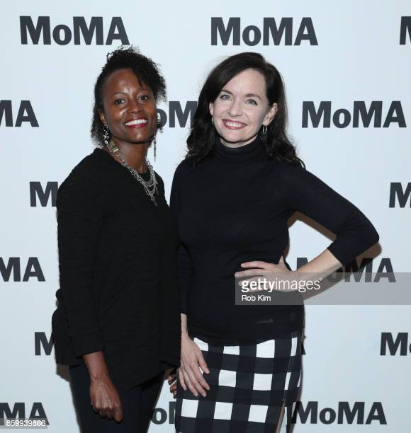 Lisa Marie Bronson and Guinevere Turner attend the MoMA's Black Intimacy Series featuring Lena Waithe Master of None Conversation at MoMA on October...