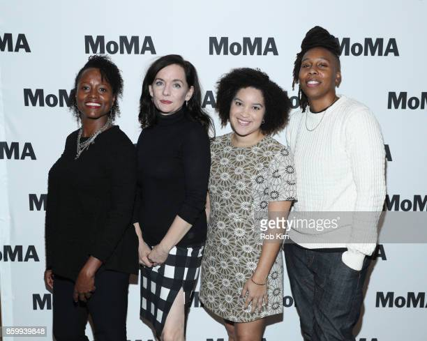 Lisa Marie Bronson Guinevere Turner Adeze Wilford and Lena Waithe attend the MoMA's Black Intimacy Series featuring Lena Waithe Master of None...