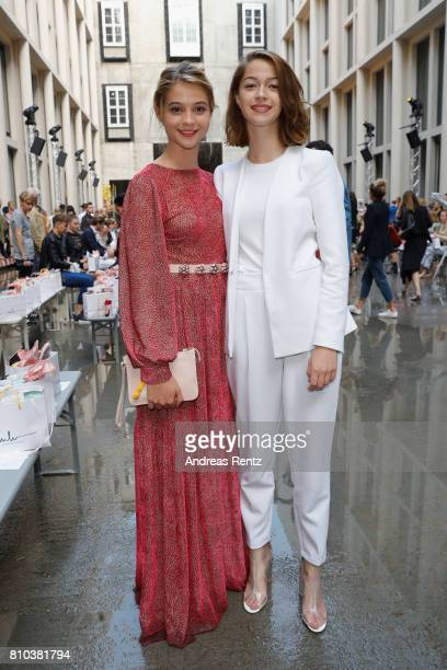 Lisa Marie Koroll and her sister attend the Marina Hoermanseder show during the Berliner Mode Salon Spring/Summer 2018 at Kronprinzenpalais on July 7...