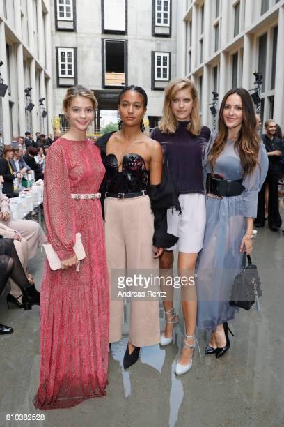 Lisa Marie Koroll and Johanna Klum attend the Marina Hoermanseder show during the Berliner Mode Salon Spring/Summer 2018 at Kronprinzenpalais on July...
