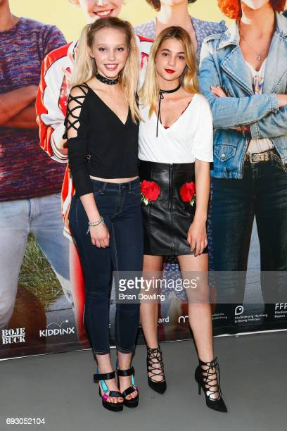 Lisa Marie Koroll and Lina Larissa Strahl attend the Bibi and Tina photo call and award reception at Atelier on June 6 2017 in Berlin Germany