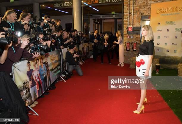 Lisa Marie Koroll arrives at the German premiere of the film 'Bibi Tina Tohuwabohu Total' at Kino in der Kulturbrauerei on February 19 2017 in Berlin...