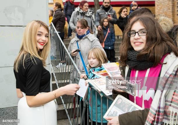 Lisa Marie Koroll arrives the German premiere of the film 'Bibi Tina Tohuwabohu Total' at Kino in der Kulturbrauerei on February 19 2017 in Berlin...