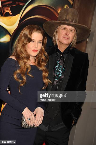 Lisa Marie Presley and husband Michael Lockwood arrive at the premiere of 'Mad Max Fury Road' held at the TCL Chinese Theater in Hollywood