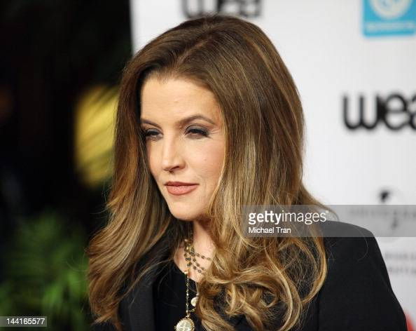 Lisa Marie Presley arrives at the NARM Music Biz Awards Dinner Party held at the Hyatt Regency Century Plaza on May 10 2012 in Century City California