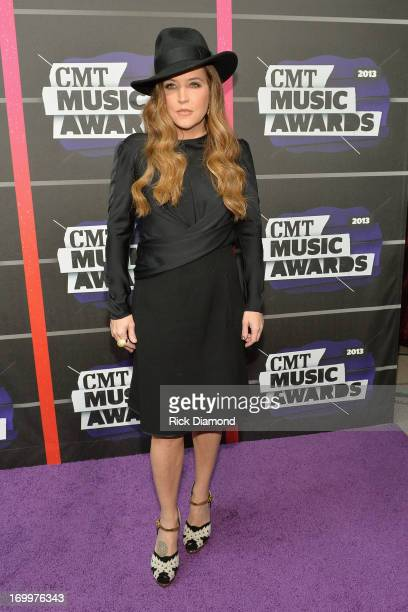 Lisa Marie Presley attends the 2013 CMT Music awards at the Bridgestone Arena on June 5 2013 in Nashville Tennessee