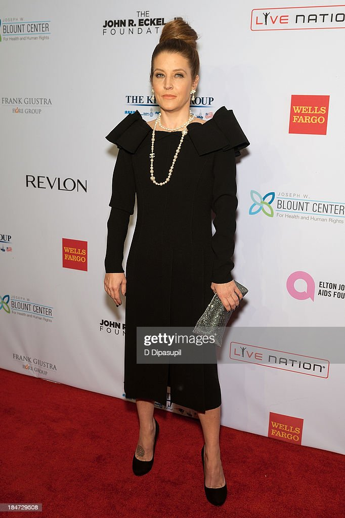 <a gi-track='captionPersonalityLinkClicked' href=/galleries/search?phrase=Lisa+Marie+Presley&family=editorial&specificpeople=202037 ng-click='$event.stopPropagation()'>Lisa Marie Presley</a> attends the Elton John AIDS Foundation's 12th Annual An Enduring Vision Benefit at Cipriani Wall Street on October 15, 2013 in New York City.