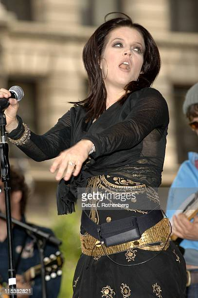 Lisa Marie Presley during J R Music and Computer World Host a Free Concert With Lisa Marie Presley in City Hall Park to Kick Off 'Shop 4 Class' a...
