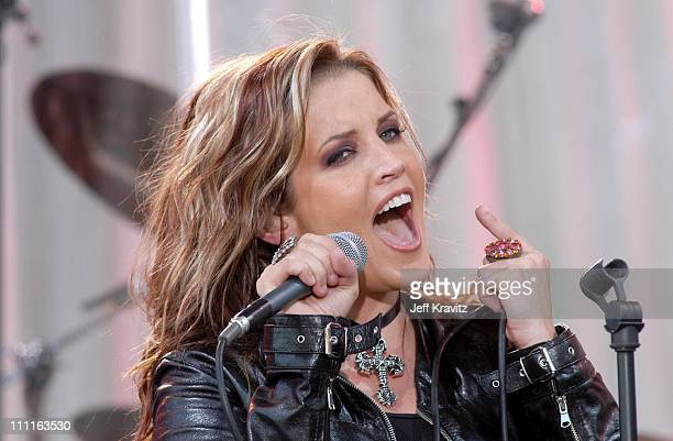 Lisa Marie Presley during Lisa Marie Presley First Public Performance Taped for Good Morning America at El Capitan Parking Lot in Hollywood...