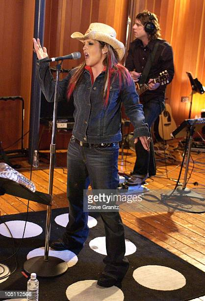 Lisa Marie Presley during Recording Of Sessions@AOL With Lisa Marie Presley at Recording Studio in Hollywood California United States