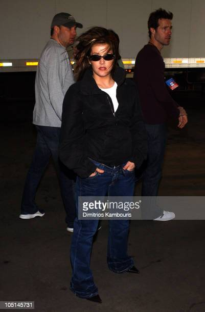 Lisa Marie Presley during Z100's Zootopia 2003 Backstage at Giants Stadium in East Rutherford New Jersey United States