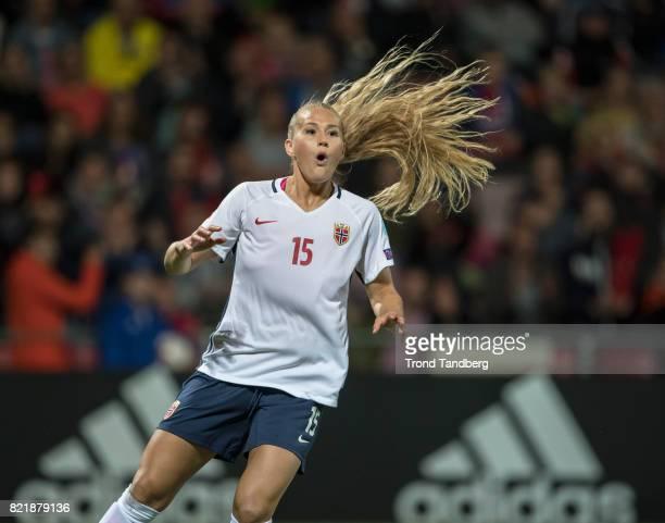 Lisa Marie Utland of Norway during the UEFA Womens«s Euro between Norway v Denmark at Stadion De Adelaarshorst on July 24 2017 in Deventer Netherlands