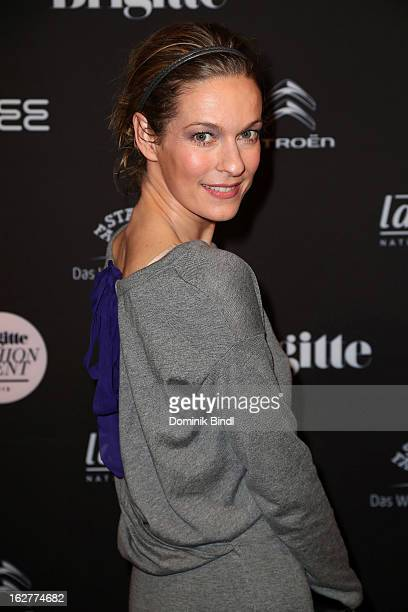 Lisa Martinek attends the BRIGITTE fashion event 2013 on February 26 2013 in Munich Germany