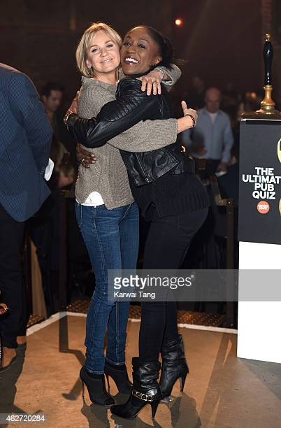 Lisa Maxwell and Diane Parish attend the Centrepoint Ultimate Pub Quiz at Village Underground on February 3 2015 in London England