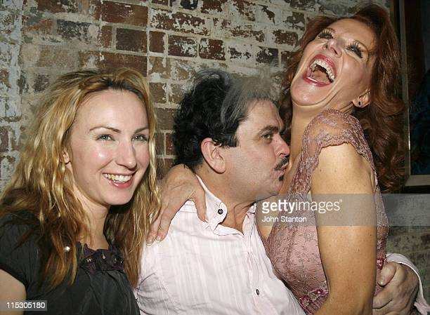 Lisa McCuneGerry Connolly and Rhonda Burchmore during 'Urinetown' Sydney Opening Night at Sydney Theatre Company Walsh Bay in Sydney NSW Australia