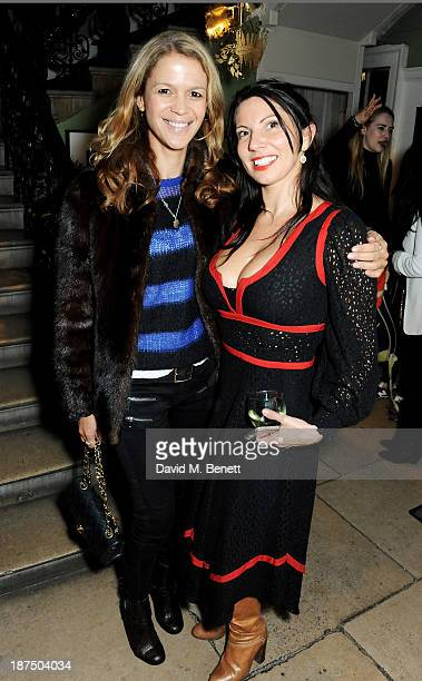 Lisa Moorish and Chloe Franses attend the launch of the House of St Barnabas private members club at The House of St Barnabas on November 8 2013 in...