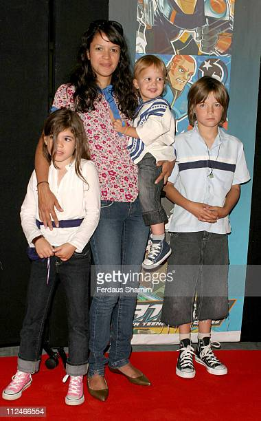 Lisa Moorish and family during 'ATOM ' London TV Premiere at The Trocadero in London Great Britain