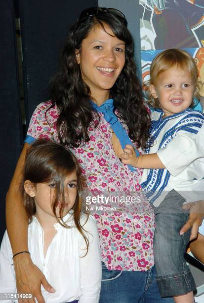 Lisa Moorish and family during 'ATOM' London TV Premiere at The Trocadero in London Great Britain