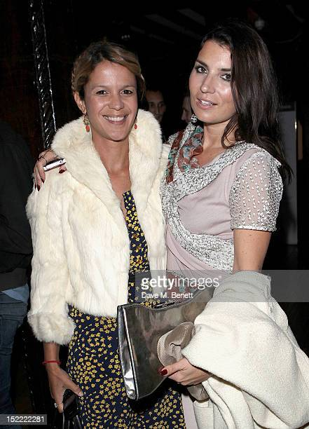 Lisa Moorish and Grace Woodward attend the Liberty Kenzo Party with purple FASHION Magazine and Belvedere Vodka during London Fashion Week Spring...